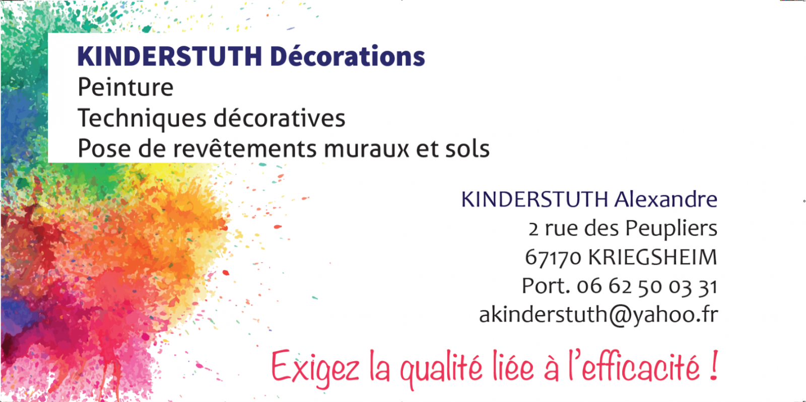 KINDERSTUTH Décorations